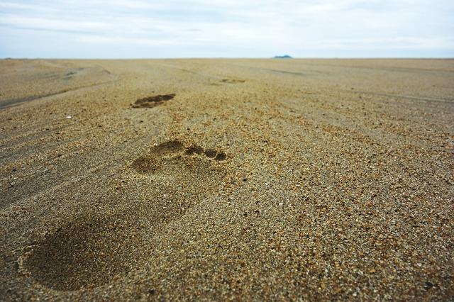 Stopy bosých nôh v piesku.jpg